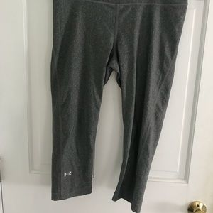 Under armour gray cropped leggings